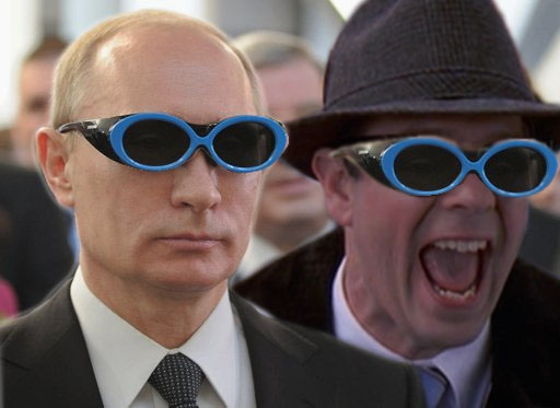 Ned and Putin with Welders Glasses